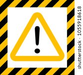 hazard symbol sign  exclamation ... | Shutterstock .eps vector #1055918618