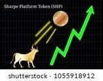 gold bull  throwing up sharpe... | Shutterstock .eps vector #1055918912