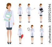 doctor character to medical... | Shutterstock .eps vector #1055921096