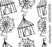 carnival funfair festive pattern | Shutterstock .eps vector #1055922905