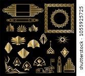 art deco   art nuevo geometric... | Shutterstock .eps vector #1055925725