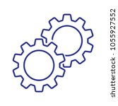 gears icon vector | Shutterstock .eps vector #1055927552