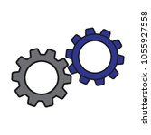 gears icon vector | Shutterstock .eps vector #1055927558
