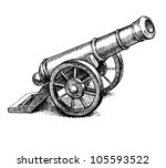 ancient cannon vintage ink... | Shutterstock . vector #105593522