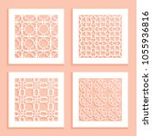 templates for laser cutting ... | Shutterstock .eps vector #1055936816
