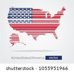 vector map and flag of the... | Shutterstock .eps vector #1055951966
