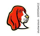 mascot icon illustration of...   Shutterstock .eps vector #1055956412