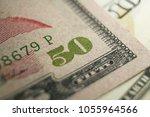 fifty dollar bill close up | Shutterstock . vector #1055964566
