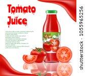 tomato juice ads poster ... | Shutterstock .eps vector #1055965256