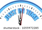just in time clock punctuality... | Shutterstock . vector #1055972285