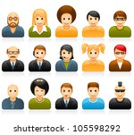 glossy people avatars with... | Shutterstock .eps vector #105598292