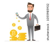 cryptocurrency technology ... | Shutterstock .eps vector #1055985932