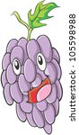 happy grapes fruit illustration | Shutterstock . vector #105598988