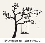 Flower Love Tree Silhouette....