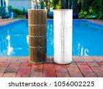 juxtaposition of a dirty... | Shutterstock . vector #1056002225