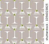 cocktail illustration martini... | Shutterstock .eps vector #1056023825