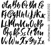 handdrawn dry brush font.... | Shutterstock .eps vector #1056031532