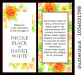 invitation with floral... | Shutterstock .eps vector #1056031598