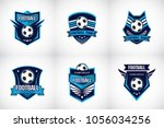 set of soccer football badge... | Shutterstock .eps vector #1056034256