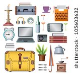a set of vector elements of the ... | Shutterstock .eps vector #105603632
