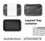 set of horizontal tray... | Shutterstock .eps vector #1056038678