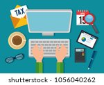 tax day time set icons | Shutterstock .eps vector #1056040262