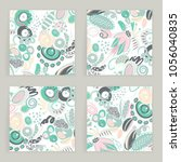 vector set of square cards.... | Shutterstock .eps vector #1056040835