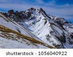 downhill skiing in telluride ...   Shutterstock . vector #1056040922