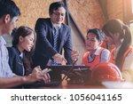 customer  contractor and...   Shutterstock . vector #1056041165