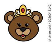 cartoon queen bear   Shutterstock .eps vector #1056043142