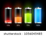 battery charge design. full... | Shutterstock .eps vector #1056045485