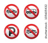 set prohibited signs   transport | Shutterstock . vector #105605432