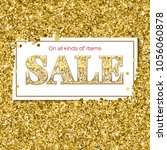 sale poster with luxury gold... | Shutterstock .eps vector #1056060878