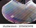 silicon wafer negative color in ... | Shutterstock . vector #1056065498