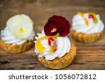 dessert  cake with cream and... | Shutterstock . vector #1056072812