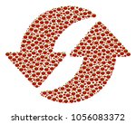 refresh mosaic of tomato... | Shutterstock .eps vector #1056083372