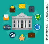business infographic. bank... | Shutterstock .eps vector #1056093338
