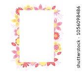 vector floral rectangular frame | Shutterstock .eps vector #1056098486