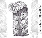 vintage engraving acanthus... | Shutterstock . vector #105610268