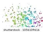 light multicolor  rainbow...   Shutterstock .eps vector #1056109616