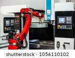 fully automated cnc machining... | Shutterstock . vector #1056110102
