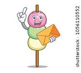 with envelope dango character... | Shutterstock .eps vector #1056110552