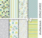 collection of retro seamless... | Shutterstock .eps vector #1056114332