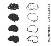 brain icon set .vector... | Shutterstock .eps vector #1056115535