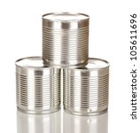tin cans isolated on white | Shutterstock . vector #105611696