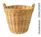 Empty Wooden Wicker Basket...