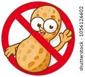 cartoon peanut in red... | Shutterstock .eps vector #1056126602