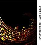 musical background vector   Shutterstock .eps vector #10561315