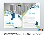 business brochure  design cover ... | Shutterstock .eps vector #1056138722