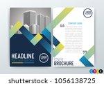 business brochure  design cover ... | Shutterstock .eps vector #1056138725